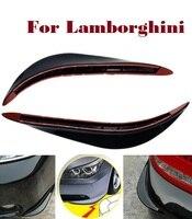 2PCS Car PVC Jackknifed Bumper Strips Scratches For Lamborghini Aventador Gallardo Murcielago Reventon Sesto Elemento Veneno