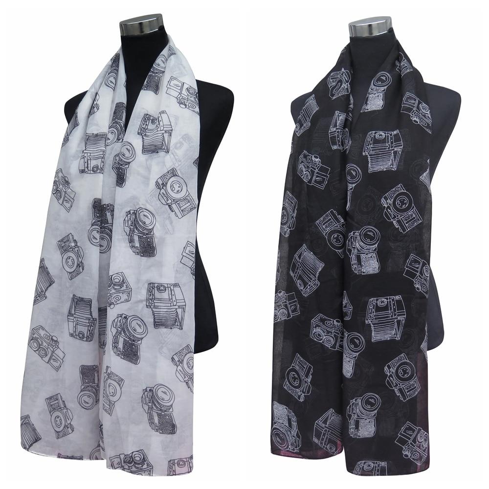 10 шт./лот старинная камера шарф шаль с принтом обертывание подарочные аксессуары для дам