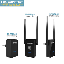 Comfast Двухдиапазонный 2.4 Г 5 Г 433Mbp 300 М Беспроводной Маршрутизатор Wi-Fi Ретранслятор wireless-n Усилитель Сигнала 802.11a/b/g/n/ac Маршрутизатор ЕС США Plug