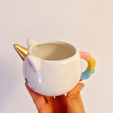 Compact Cartoon Unicorn Coffee Mug