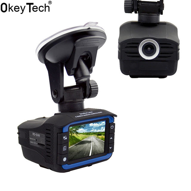 OkeyTech Best 2 In 1 Anti Laser Car Radar Detector G-sensor DVR Camera Recorder 140 Degree Lens HD 720P Russian&English Version