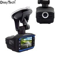 OkeyTech Best 2 In 1 Anti Laser Car Radar Detector G sensor DVR Camera Recorder 140 Degree Lens HD 720P Russian&English Version