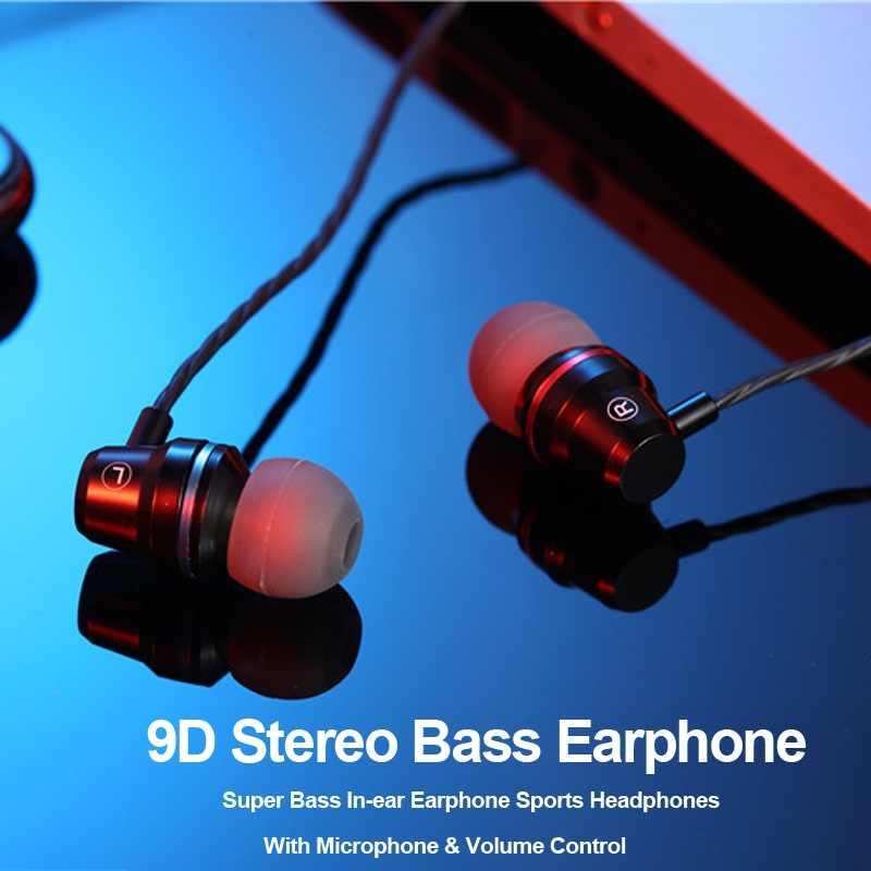 Earphone Headphone Headset untuk Ponsel DJ MP3 Earbud Kawat Auriculares Headset Musik Earphone Logam Fone De Ouvido MP3
