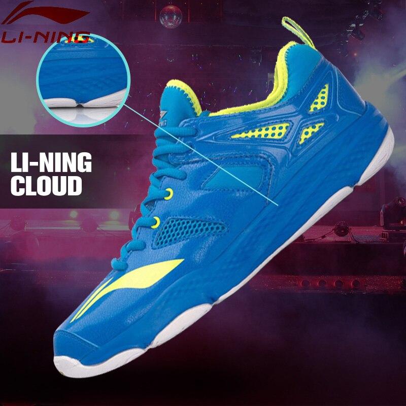 Li-Ning Men's Cloud Badminton Training Shoes TUFF RB Breathable LiNing Sports Shoes Sneakers  AYTM019 XYY038 li ning men s fission iii wade professional basketball shoes lining cloud sneakers breathable sports shoes abam025 xyl109