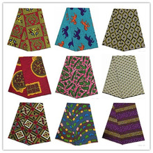 2019 latest 6yards african wax prints kente fabric hot selling african ankara wax fabric 100% polyester wax prints for party1001