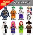 8 unids super heros pg8013 comando suicida joker harley quinn dos cara espantapájaros starfire dc lepin juguetes lpin
