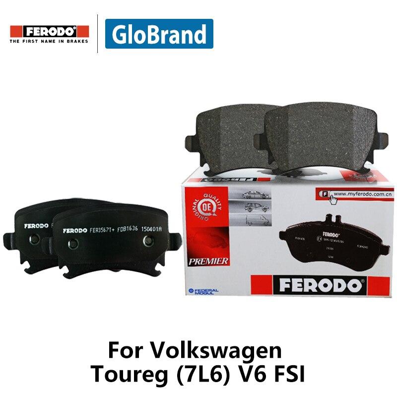 4pieces/set Ferodo Front Car Brake Pads For Volkswagen Toureg (7L6) V6 FSI 3.6 FDB1877 цена и фото