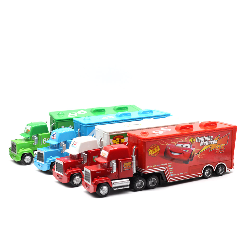 Makina Disney Pixar 3 9 Stilet Mack Truck McQueen Uncle 1:55 Dioqast - Makina lodër për fëmije - Foto 5