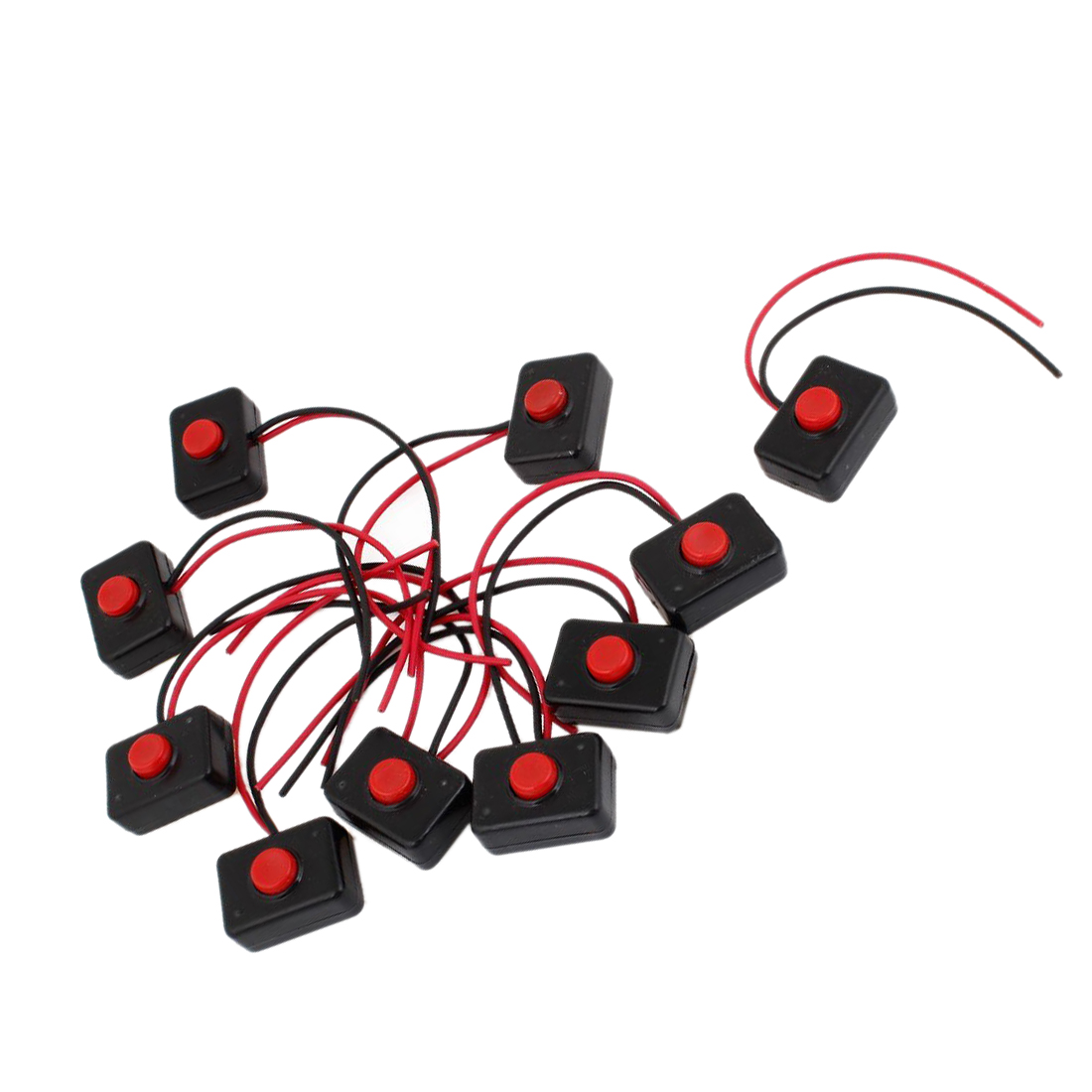 Promotion  10 X Ac 250v 3a 2 Wire Plastic Momentary Push