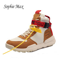 2018 Men Sneakers Breathable Hight Top Sport Shoes man Brand Outdoor Athletic Walking Mens Run Running Shoes For Man