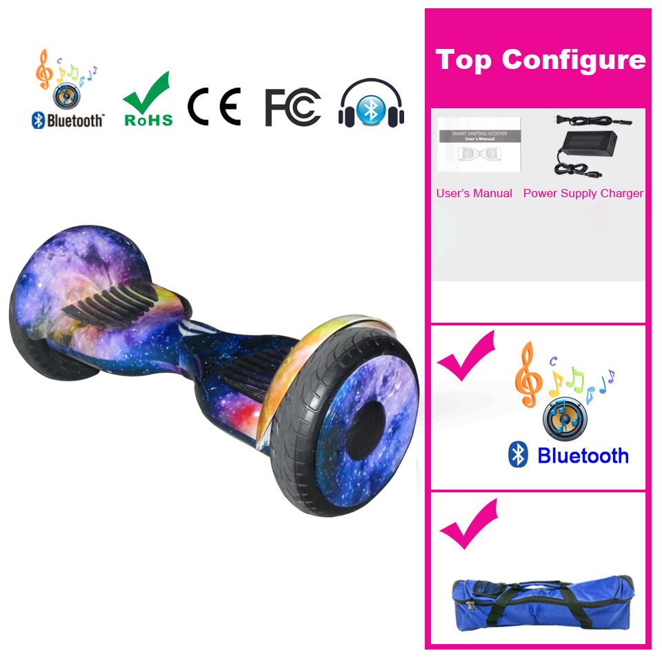 Hoverboard 10 inch Pouce Overboard Electric Scooter Wheel Trottinette Electrique Adulte Gotway Over board Skateboard Gyropode high quality diy electric scooter plastic cover hoverboard outer shell electric standing scooter case for 10 inch hoverboard