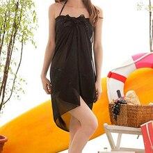 f2e3ee033d MIARHB Women's Beach Dresses Chiffon Cover Up Wrap Scarf Pareo Swimwear  Sarong Dress Summer Beach Wrap