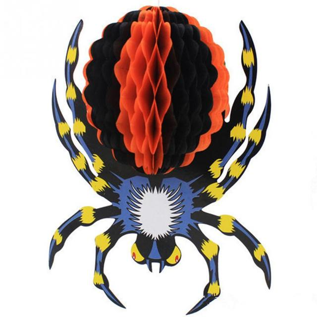 33 60cm Large Size Thrilling Plush Halloween Spider Props For Party Bar KTV Halloween decoration Toy Props