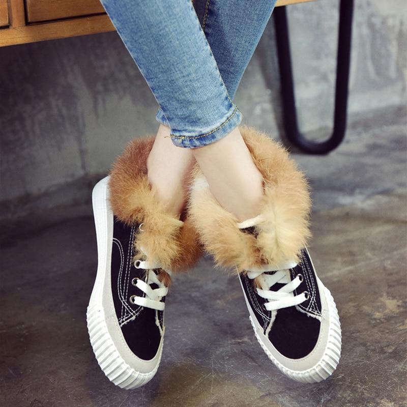 online store ccf66 5e171 korean-style-winter-plush-casual-shoes-women-fur-shell-toe-board-shoes -ladies-cross-tied-flats.jpg