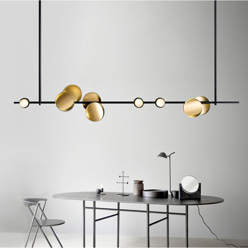 Nordic Art Design Restaurant <font><b>Pendant</b></font> <font><b>Light</b></font> Creative Metal <font><b>Bar</b></font> Dining Livingroom Coffee Shop Decoration Suspension <font><b>Light</b></font> Fixtures image