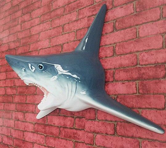 독특한 그레이트 화이트 상어 머리 조각 벽 매달려 수 지 3d 턱 동상 바다 예술과 공예 장식 홈 및 바 장식-에서피규어 & 미니어처부터 홈 & 가든 의  그룹 1