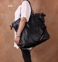 Бесплатная доставка Размер 53,5*42*18 модная повседневная крупногабаритная женская сумка из натуральной кожи женская сумка через плечо из мягк