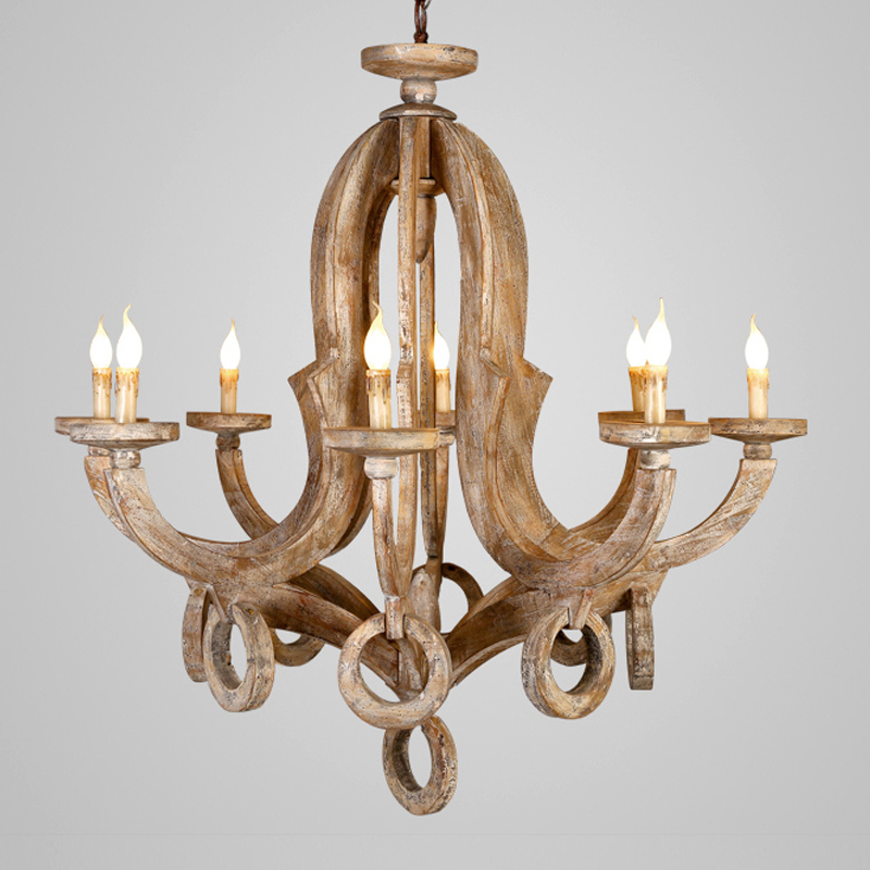 Lampadario in legno di Illuminazione Per Soggiorno camera Bderoom Cucina Lustro Vintage Lampadari A Soffitto Retro Complementi Arredo Casa Light Fixtures