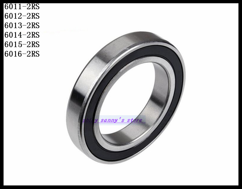 1Pcs 6016-2RS 6016 RS 80x125x22mm Rubber Sealed Deep Groove Ball Bearing Brand New 6000 2rs sealed deep groove ball bearing 10mm inner dia black silver tone