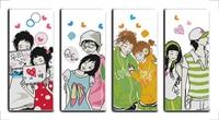 Joie Dimanche de bande dessinée style Full House débutants compté point de croix modèles en ligne carte gratuite pour vente magasin