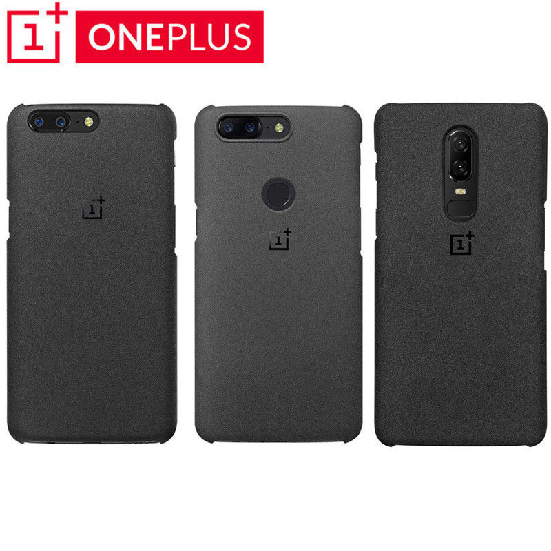 For Oneplus 7/7 Pro/6 6T/ 5 / 5T 100% Original Official OnePlus Genuine Sandstone Matte Slim Back Skin Case Cover