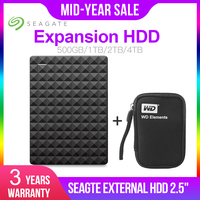 Seagate Expansion HDD 500GB 1TB 2TB 4TB Portable External Hard Drive Disk USB 3.0 HDD 2.5 for Desktop Laptop Macbook Ps4