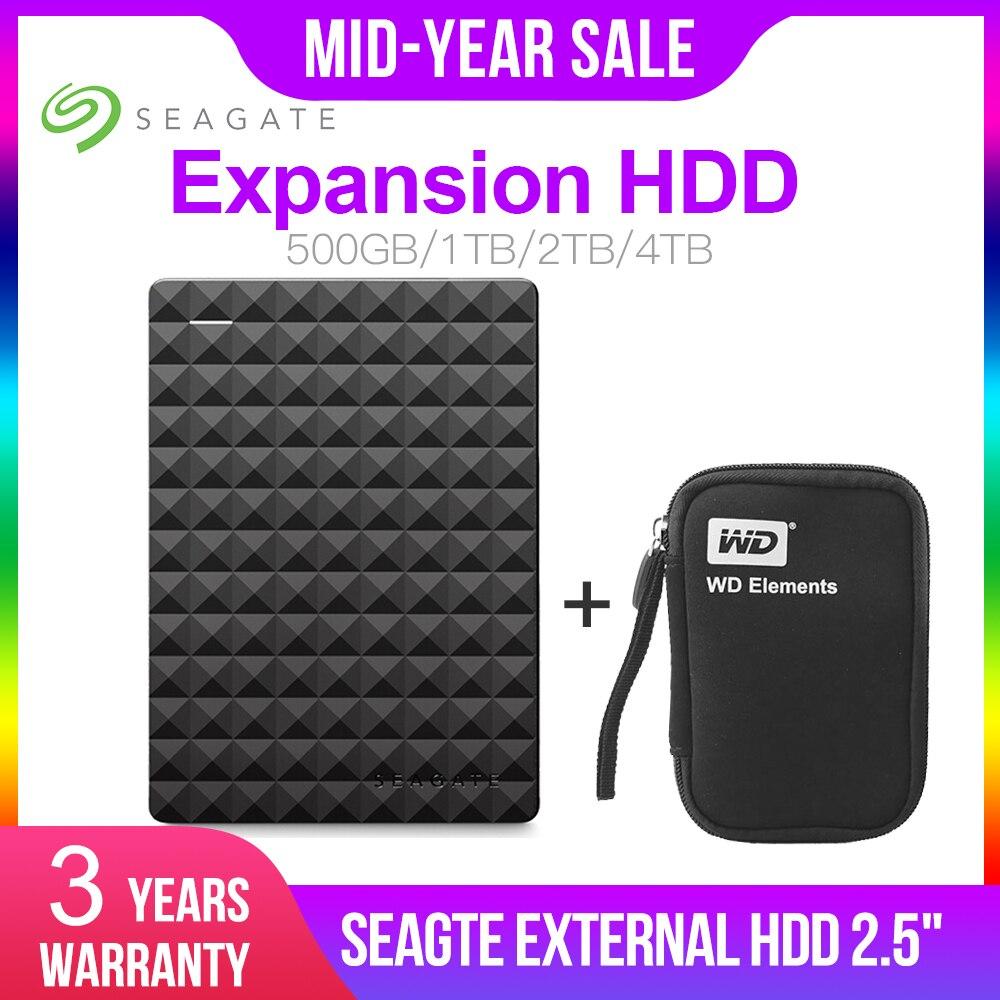 Expansão Seagate HDD TB 1 2 4TB TB Portátil Disco Rígido Externo USB 3.0 HDD de 2.5