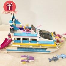 BELA Friends series 41015 618Pcs Dolphin Cruiser kids toys For Children Gift 10172 Building Blocks Set Compatible Education