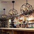 Nordic Anhänger Lichter Lesen Loft Retro Eisen Lampenschirm Anhänger Lampe Wohnzimmer Restaurant Schlafzimmer Cafe Decor Schmiedeeisen Hanglamp-in Pendelleuchten aus Licht & Beleuchtung bei