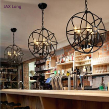 Nordic Pendant Lights Reading Loft Retro Iron Lampshade Pendant Lamp Living Room Restaurant Bedroom Cafe Decor Wrought Hanglamp стоимость