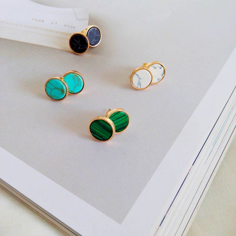 Minimalist Earrings with Natural Stone Earrings Jewelry Women Jewelry