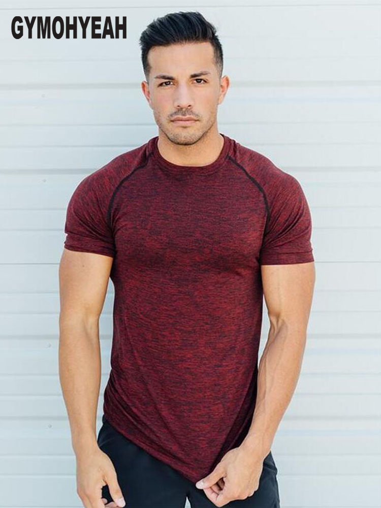 2018 New Gyms Tight elastic   T     shirt   Men Compression Bodybuilding and Fitness Men's Singlets Short Sleeve   T  -  Shirts