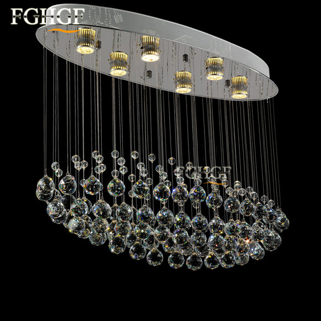 Modern luster crystal chandeliers lighting fitting oval flush modern luster crystal chandeliers lighting fitting oval flush mounted pendant lamp for foyer dining room restaurant mozeypictures Gallery