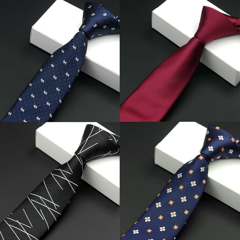 Црна уска кравата чврста цвјетна - Одевни прибор