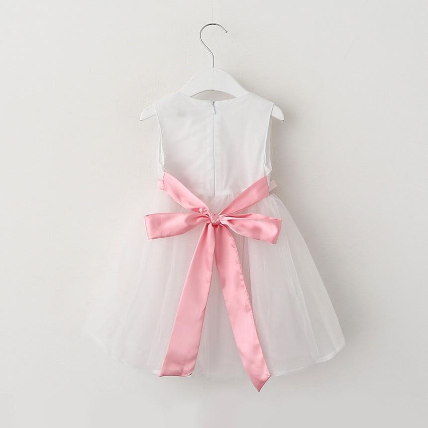 VIMIKID 17 New Girls tutu dress + belt flowers gauze children princess vest dress Girls lace dress kids clothes pink purple 16