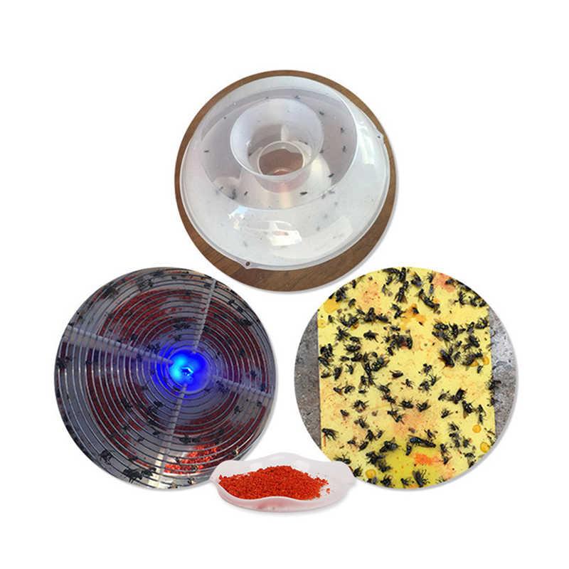 1 قطعة تعليق Flycatcher قابلة لإعادة الاستخدام للطي صائدة الذباب الصيف البعوض فخ دبور فخ الماسك يطير مع جاذبة فخ