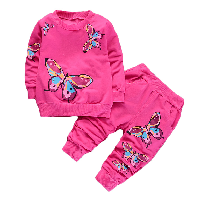 BOTEZAI Youngsters Ladies Clothes Units 2019 Summer time Trend Model butterfly Printed T-Shirts+Pants 2Pcs Child Ladies Garments Units Clothes Units, Low cost Clothes Units, BOTEZAI Youngsters Ladies Clothes Units...