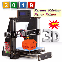 3D Printer Reprap Prusa i3 DIY MK8 LCD Power Failure Resume Printing Printer 3d Drucker Impressora Imprimante UK USA Stock