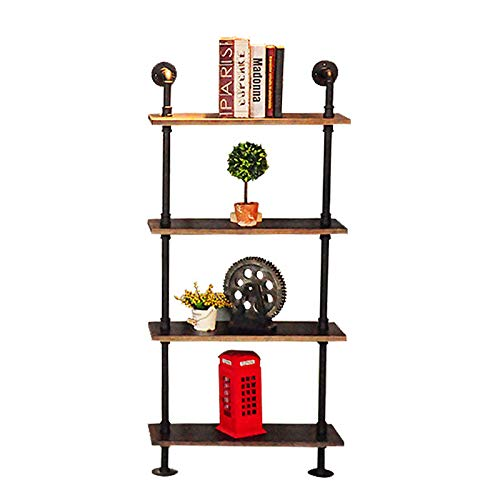 Industrial 4 Tier Bookcase Bookshelf Leaning Wall Pants Shelf Ladder Storage Display Furniture Home Wall Cabinet Storage Holders