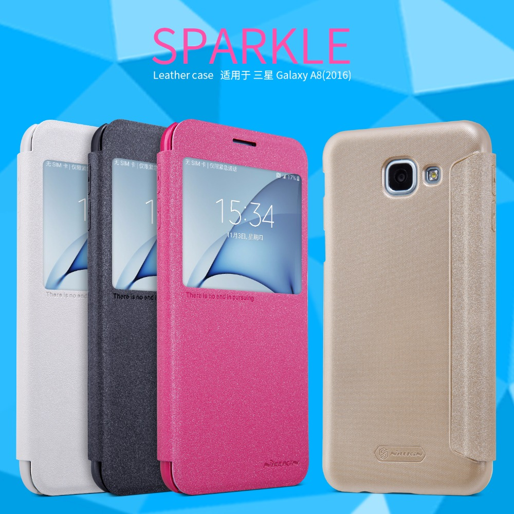 Samsung galaxy a8 2016 pictures official photos - For Samsung Galaxy A8 2016 Case Smart Cover Nillkin Sparkle Leather Case For Samsung Galaxy A8