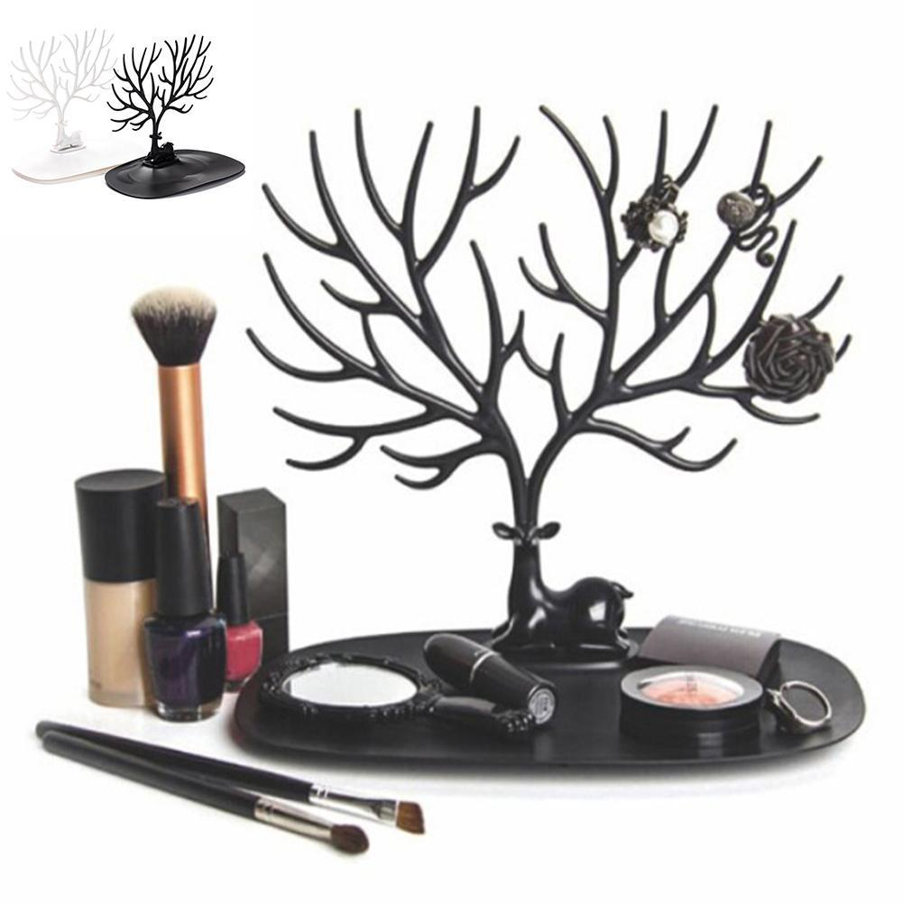 Jewelry Necklace Ring Earring Tree Stand Display Organizer Holder Show Rack