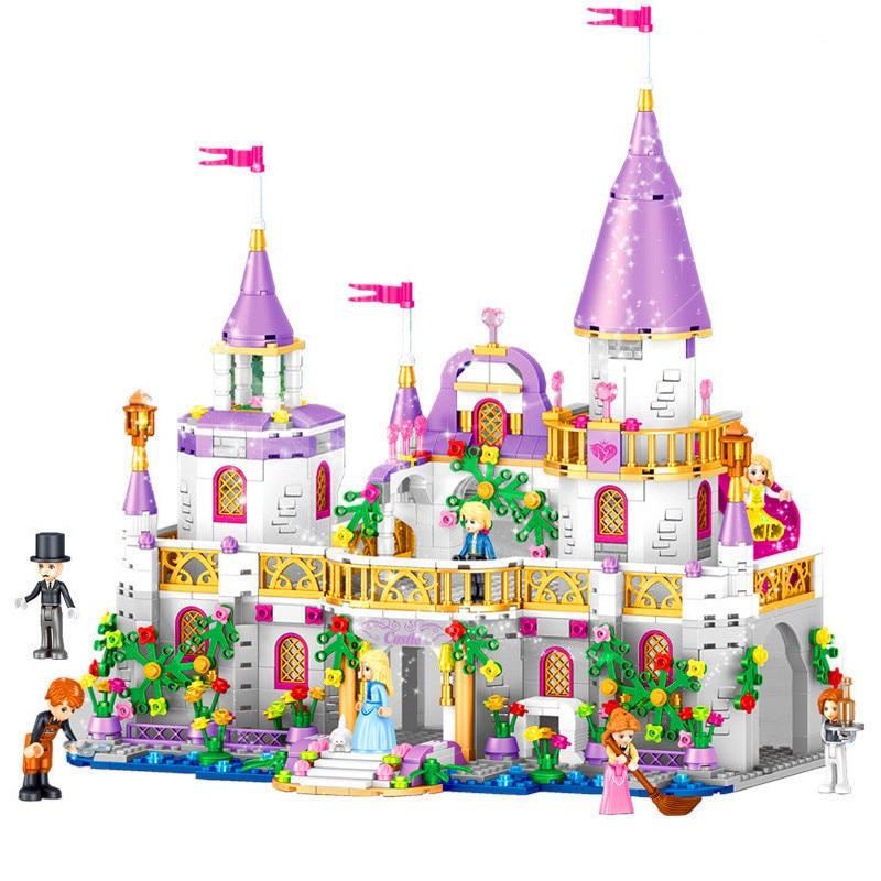 Girls Friends QL1106 731PCS Building Blocks Princess Windsor Castle Set technic Designer Bricks LegoINGly 41148 Toys Girl