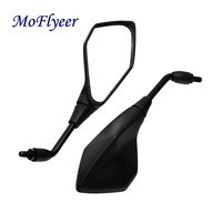 MoFlyeer Motorcycle Mirrors Universal Motorbike Replacement Parts Rear View Mirrors 10mm 8mm On Sales Big Size Glass