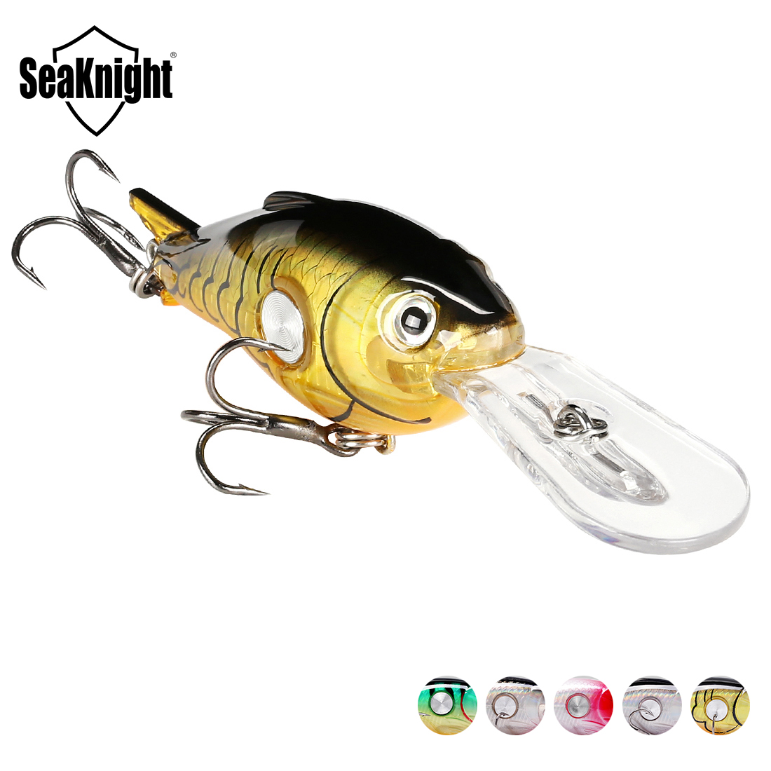 SeaKnight SK003 Crankbait Fishing Lure 1PC 10g 55mm 1.8-3.9M Floating Wobbler Fishing Lure Deep Diving Crank Bait Hard Saltwater