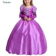 Kids Girls Princess Rapunzel Dresses Ball Gown Long Party Dress Sofia Dress Children Clothing Kids Halloween Cosplay Costume