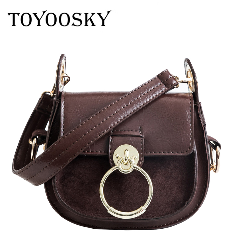 TOYOOSKY Fashion Saddle Bag Women Security Lock Design PU Leather Messenger Bags Luxury Shoulder Bag High Quality Women Handbags best quality 2018 new gate shoulder bag women saddle bag genuine leather bags for women free shipping dhl