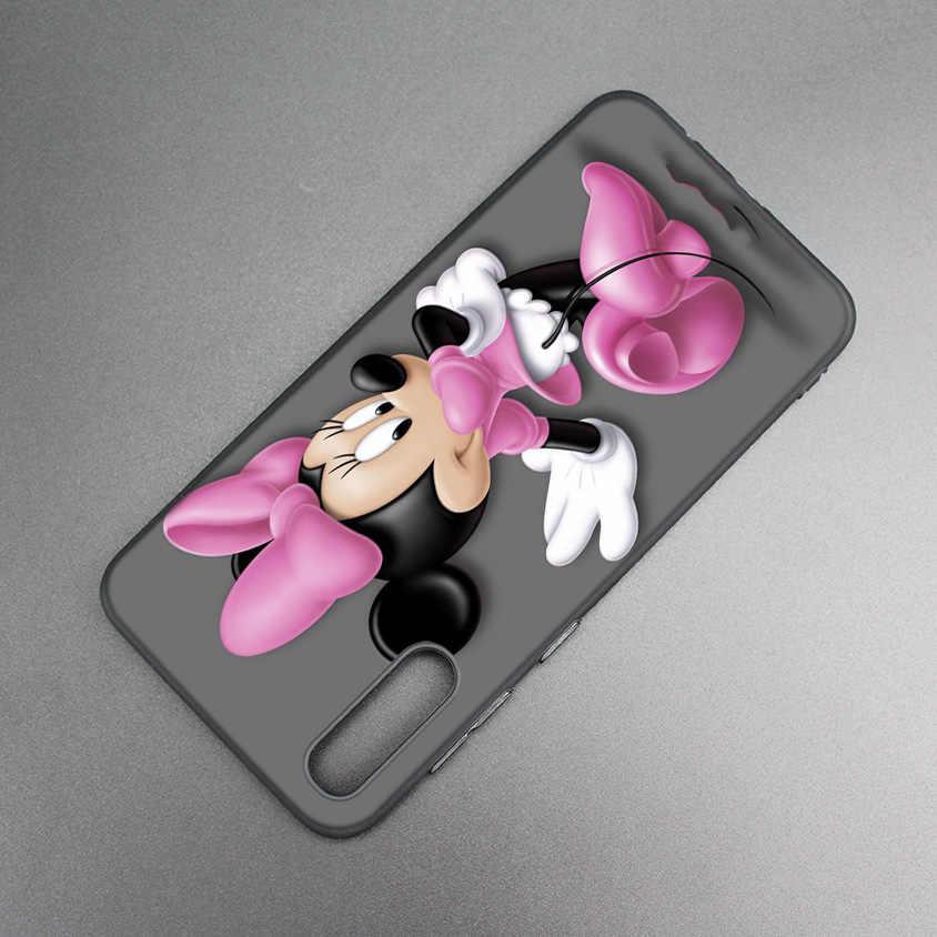Черный и белый МИККИ Мышь мягкий чехол TPU для Xiaomi 9 8 A2 lite A1 играть Pocophone F1 Xiomi Redmi Y3 Примечание 7 6 5 Pro 5 плюс крышка