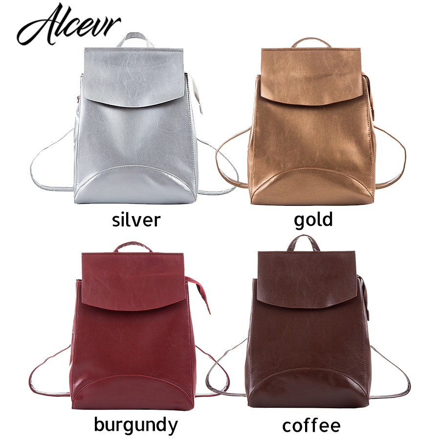 Alcevr Fashion Women Backpack High Quality Youth Leather Backpacks For Teenage Girls Female School Shoulder Bag Bagpack Mochila #6
