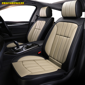 Image 5 - Neue luxus Leder auto sitz abdeckung für mitsubishi pajero 4 sport outlander 3 xl lancer 9 10 grandis ASX colt l200 auto zubehör