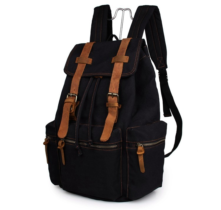 J M D High Quality Canvas Schoolbag Men 39 s Fashion Backpack College Student Laptop Backpack For Travelling 9003A in Backpacks from Luggage amp Bags